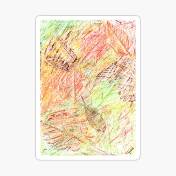 2413 - Golden Autumn Leaves Falling Sticker
