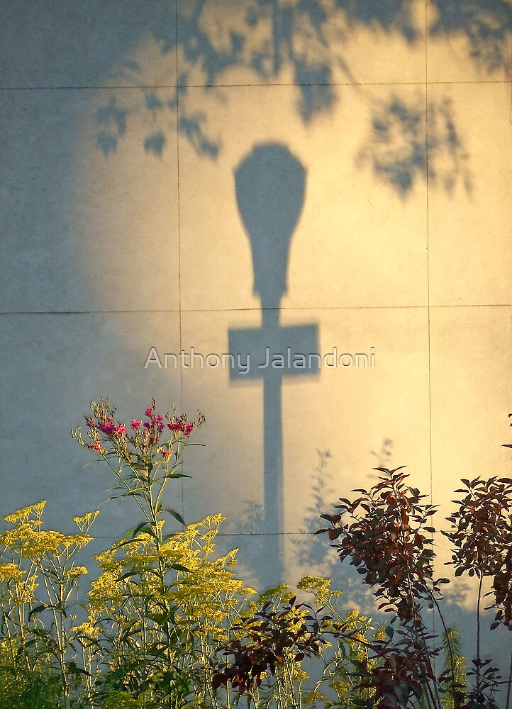 Lamppost shadow by Anthony Jalandoni