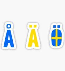 Å Ä Ö Sticker