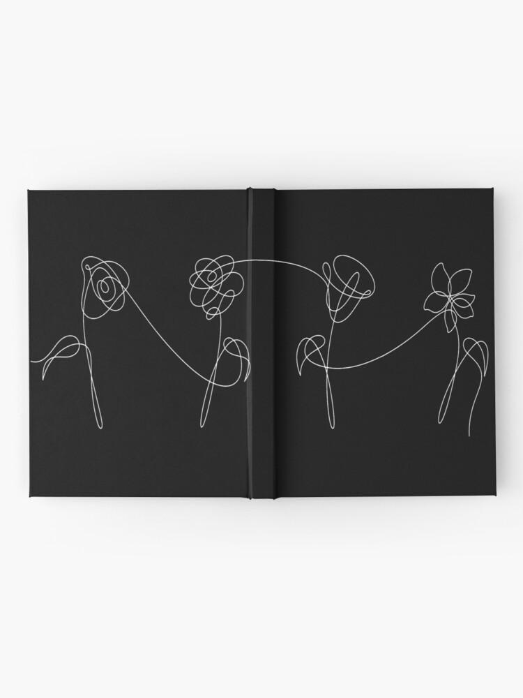 Vista alternativa de Cuaderno de tapa dura BTS CUATRO FLORES BLANCO