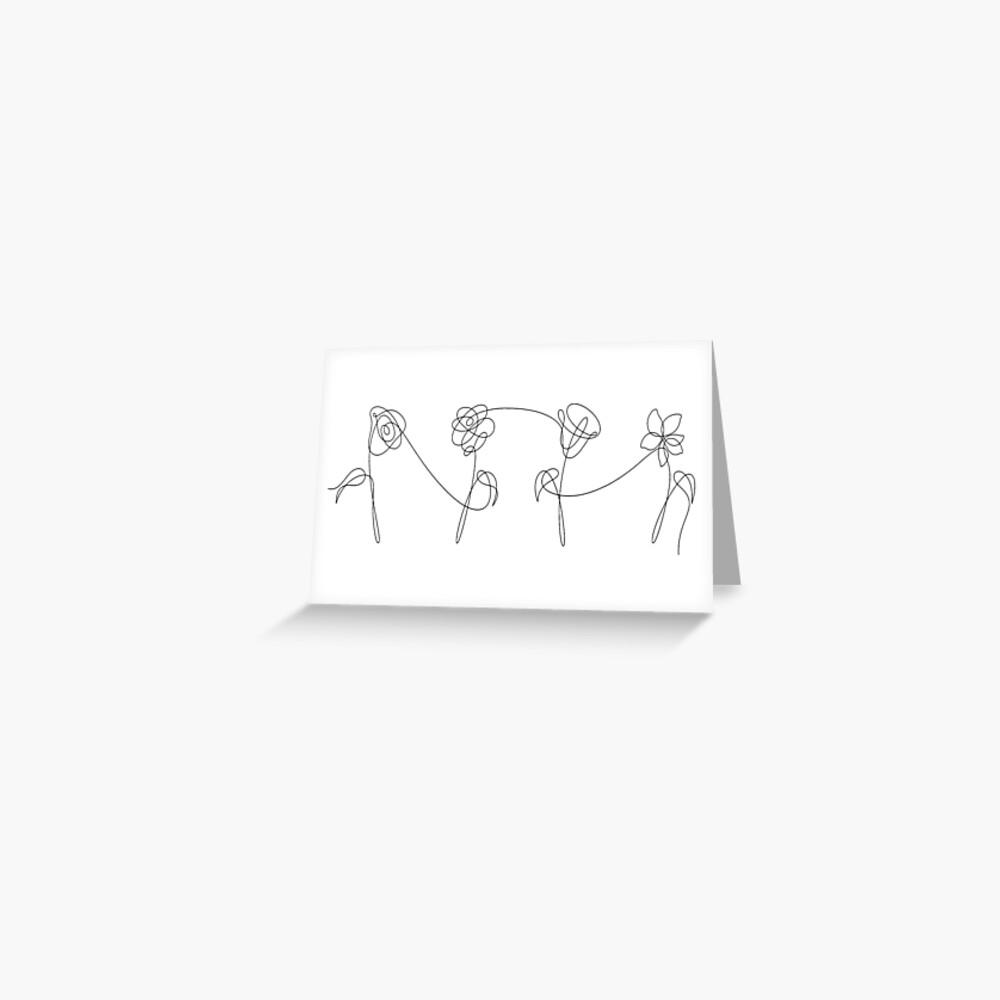 BTS VIER BLUMEN Grußkarte