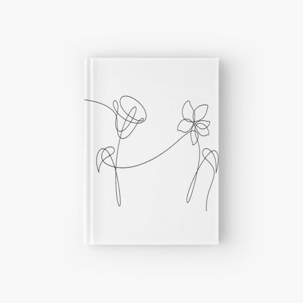 BTS FOUR FLOWERS BLACK Hardcover Journal