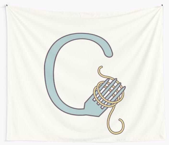 C illustrated alphabet letter by freshinkstain