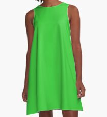 color lime green A-Line Dress