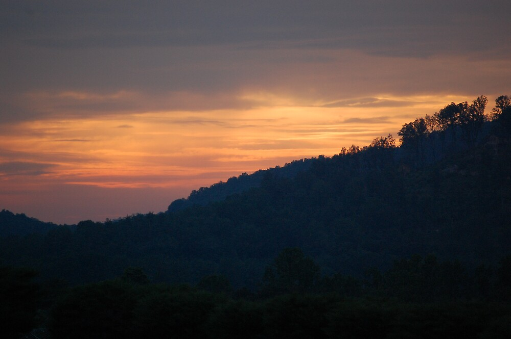 sunset at bear wallow mountain  by dbcarolinagirl