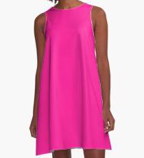 color deep pink  A-Line Dress