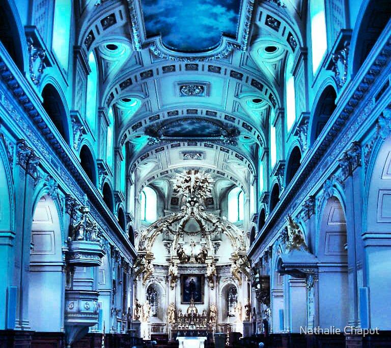 Blue Church by Nathalie Chaput