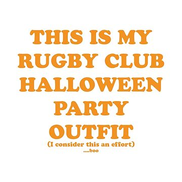 Rugby Club - Halloween by rugbygifts