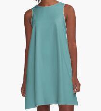 color cadet blue  A-Line Dress