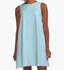 color light blue  A-Line Dress