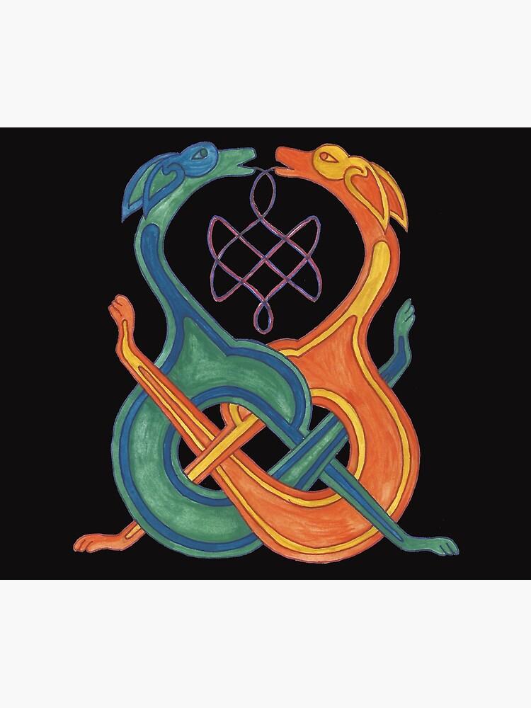 Entwirrte Celtic Knotwork Dogs von rachsymonds