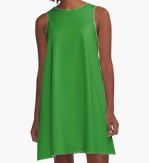 color forest green  A-Line Dress