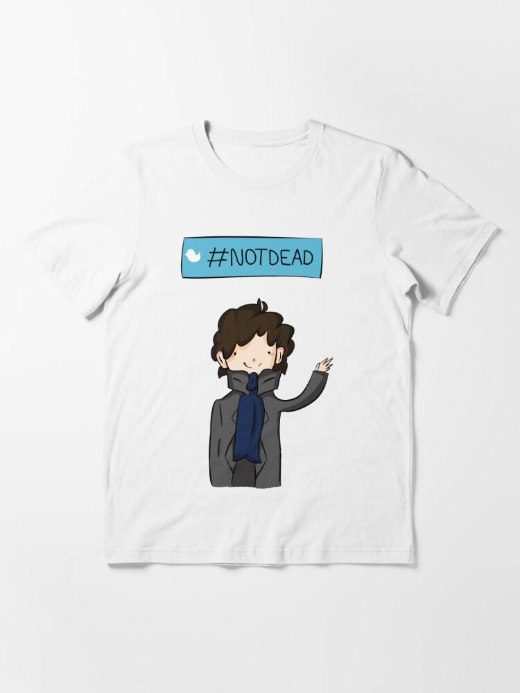 Alternate view of Sherlock #Not Dead Essential T-Shirt
