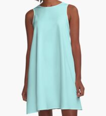 color pale turquoise A-Line Dress
