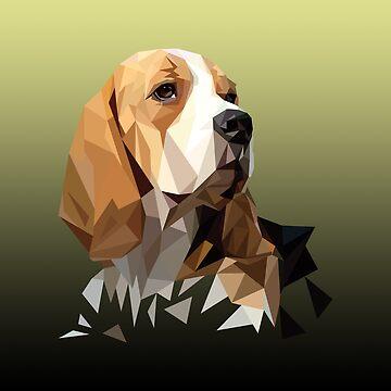 Beagle Hunting Dog Head by KingdomArt101