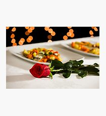 A rose to celebrate an event Photographic Print