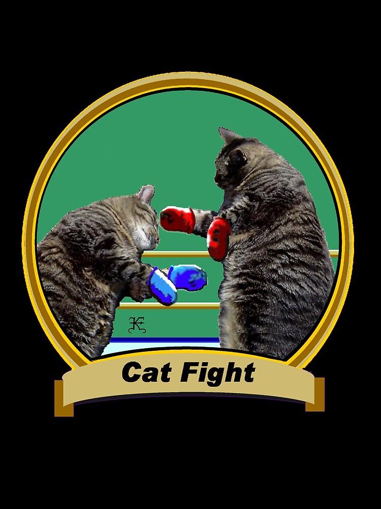 Cat Fight- 'Kittys on the Canvas' by Kevyn Paul Eisenman