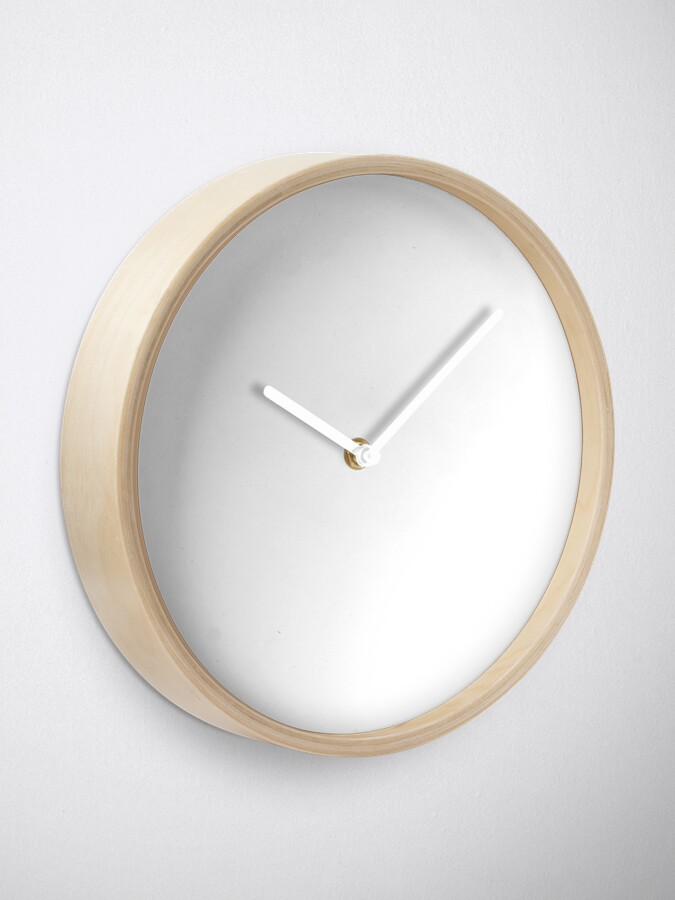 Alternate view of PLAIN WHITE | VERY WHITE | NEUTRAL SHADE | WE HAVE OVER 40 SHADES AND HUES IN THE NEUTRAL PALETTE Clock