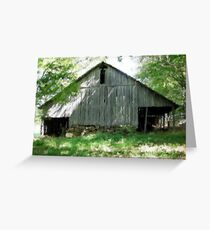 Oil Paint of a barn in the Ozarks Greeting Card