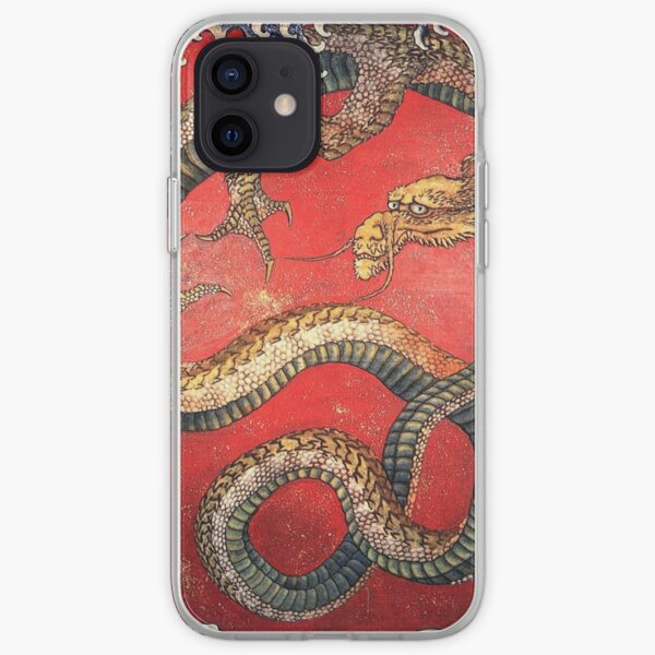 HOKUSAI. DRAGON, Katsushika Hokusai, Japan, Japanese, Wood block, print. iPhone Soft Case