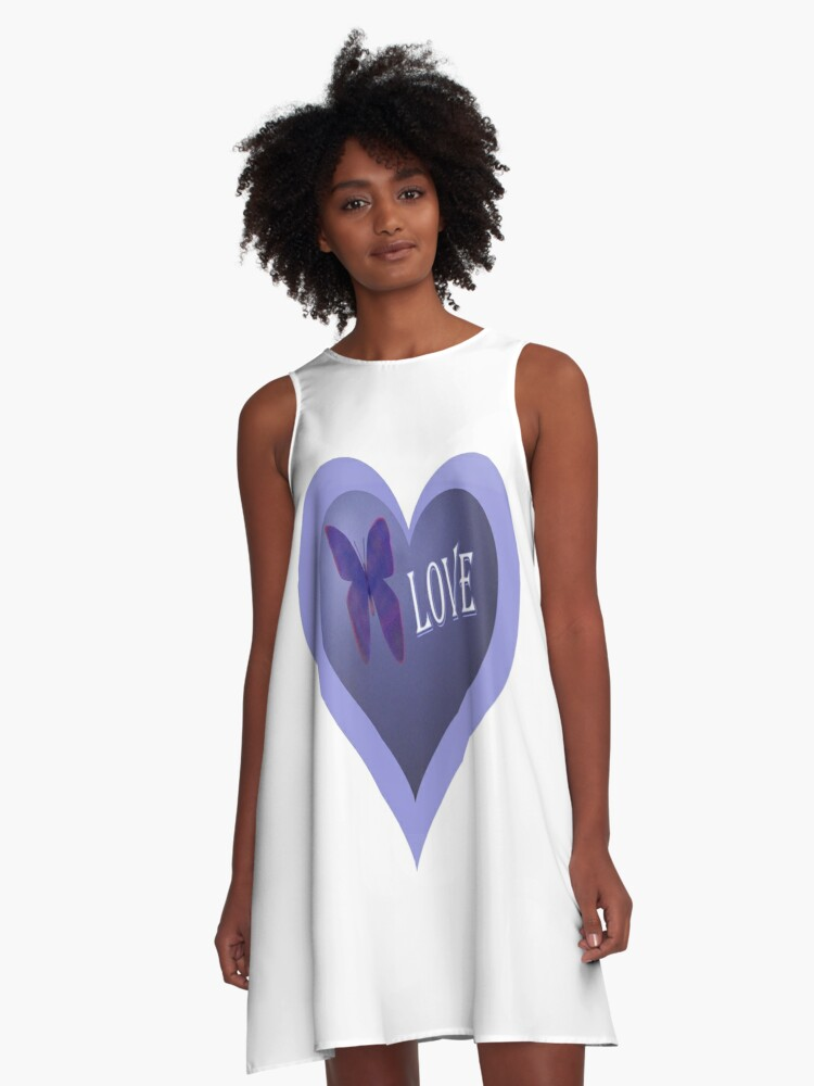 Butterfly Love A-Line Dress Front