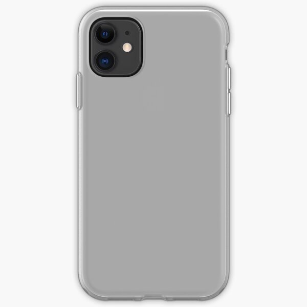 PLAIN SOLID DARK GREY |PLAIN SOLID DARK GRAY - OVER 100 SHADES OF GREY AND SILVERS ON OZCUSHIONS iPhone Soft Case