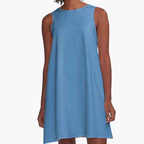 color steel blue A-Line Dress