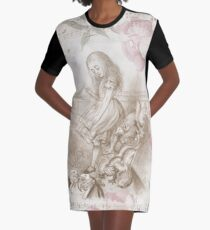 Vintage Alice In Wonderland Graphic T-Shirt Dress