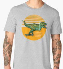 T-Rex on skateboard with a lightsaber  Men's Premium T-Shirt