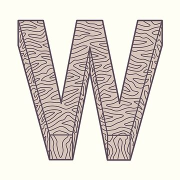 W illustrated alphabet letter by freshinkstain