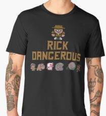 Gaming [C64] - Rick Dangerous Men's Premium T-Shirt