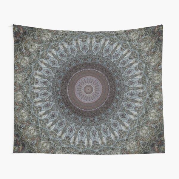 Mandala in grey and brown tones Tapestry