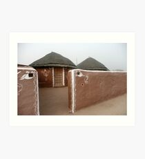 Bishnoi Village, India Art Print