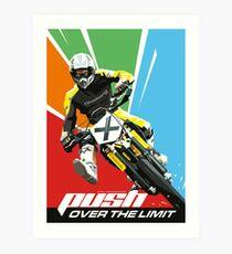Motocross - Push Over The Limit Art Print