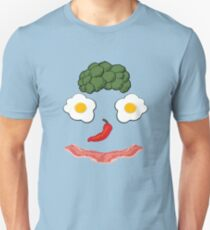 Bacon and Eggs Funny Breakfast Happy Face  T-Shirt