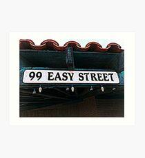 99 Easy Street Art Print