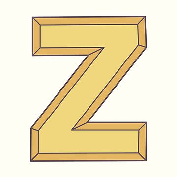 Z illustrated alphabet letter by freshinkstain