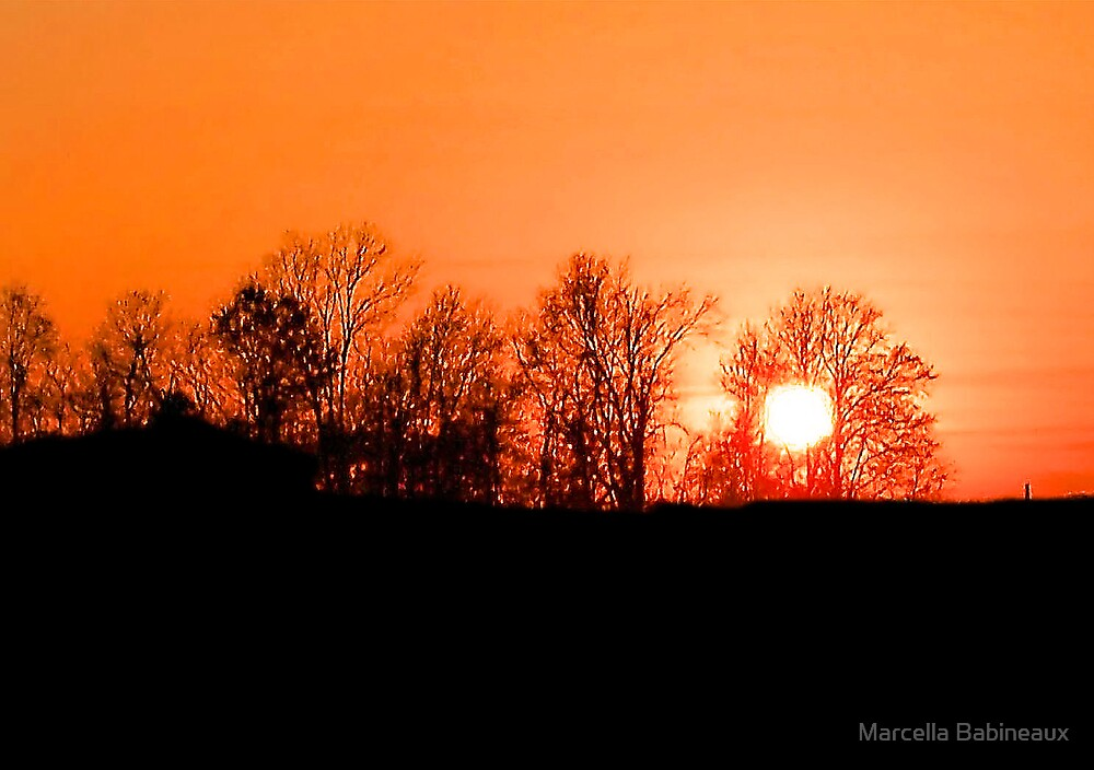Autumn Sunset by Marcella Babineaux