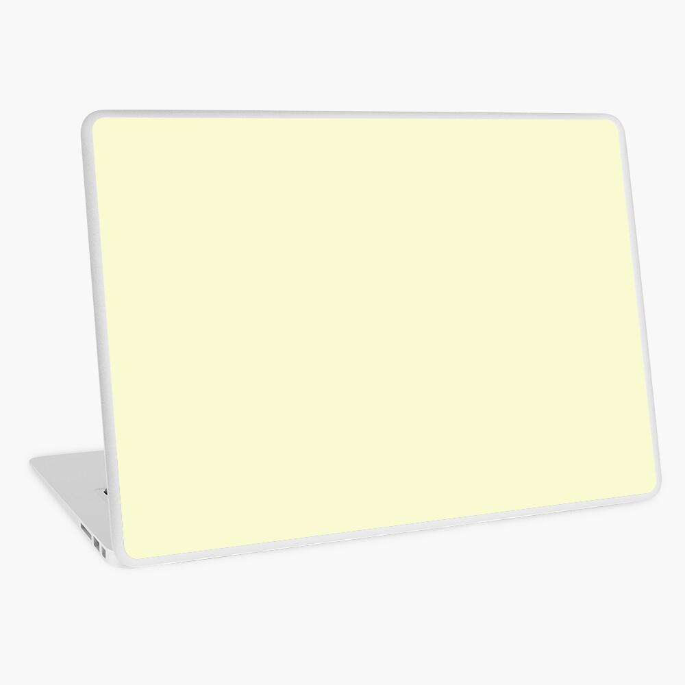 color light goldenrod yellow Laptop Skin
