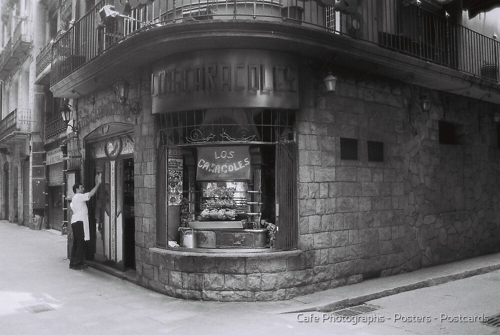 Los Caracoles, Barcelona by Cafe Photographs - Posters - Postcards