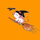 Pigs Fly in Salem by KOKeefeArt