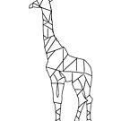 Giraffe Line Drawing  by MrPeterRossiter