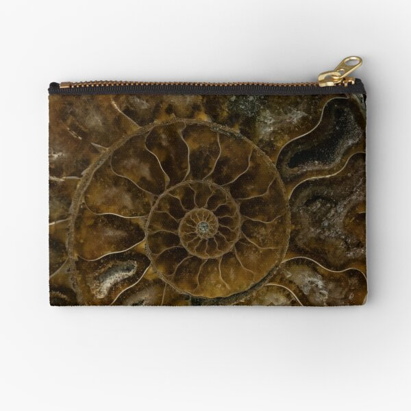 Earth Treasures - Brown amonite Zipper Pouch