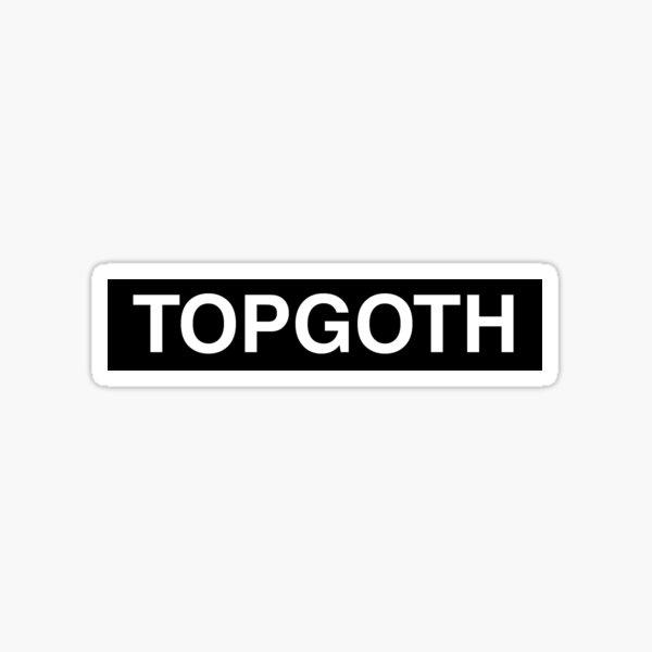 TOPGOTH box for white Sticker