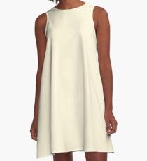 color cornsilk A-Line Dress