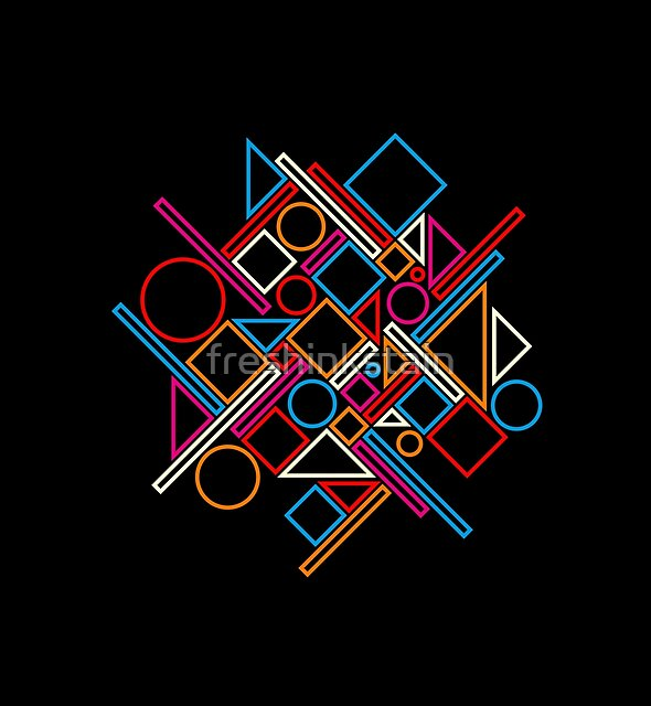geometric abstract 1 by freshinkstain