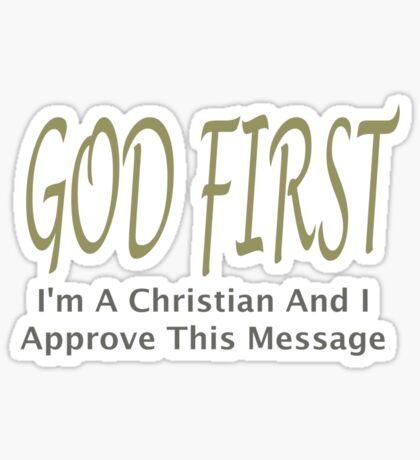 God First Sticker