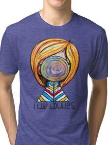 I LUV LOLLIES! Tri-blend T-Shirt