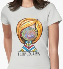 I LUV LOLLIES! Women's Fitted T-Shirt