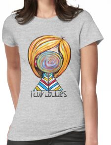 I LUV LOLLIES! Womens Fitted T-Shirt